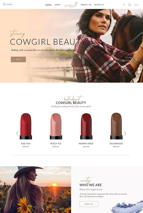 Makeup Website Design